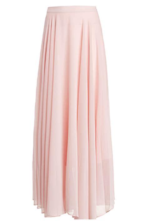 chiffon maxi skirt in light pink dailylook