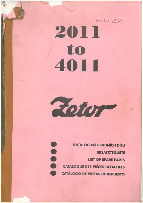 What Makes A Good Home Zetor Tractor 2011 3011 4011 Parts Manual
