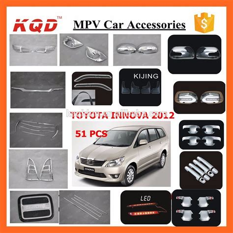 Cover Handel Innova Lamaold Chrome chrome kits accessories abs 4pc door handle bowl cover trim insert inner covers for toyota