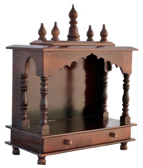 Puja Room Designs jodhpur handicrafts brown wood hanging mandir buy jodhpur