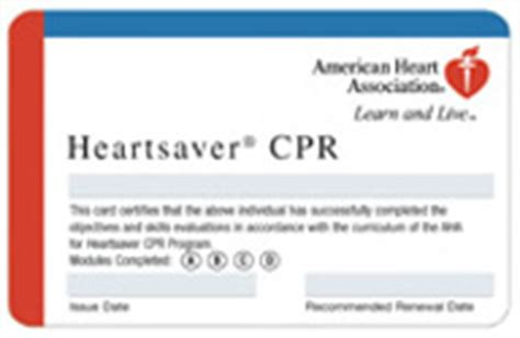 heartsaver cpr aed card template cpr classes woodside protection district