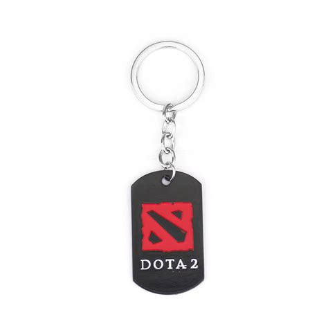 Keychain Bordir Dota 2 dota 2 keychain black enamel