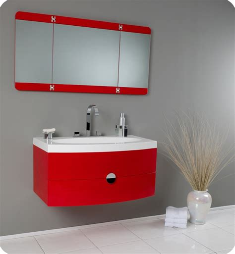 red bathroom mirror fresca energia red modern bathroom vanity