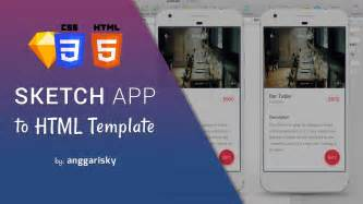Sketches App Tutorial by Sketch App Ui Design To Html And Css Tutorial