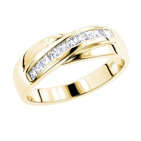 14k gold s wedding ring 1ct