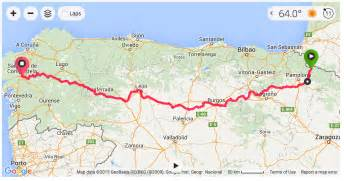 el camino pilgrimage map cycling the camino de santiago rambling roads