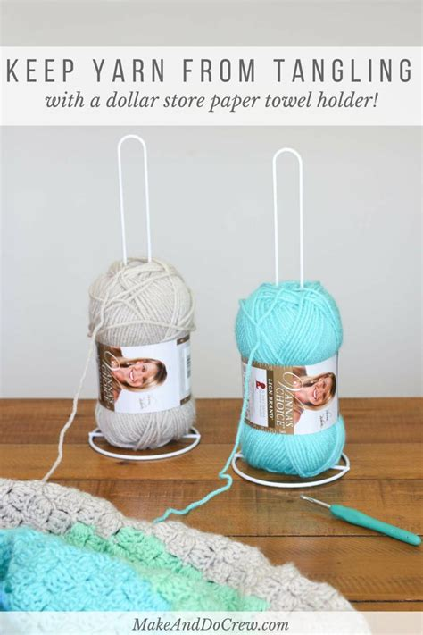 how to hold yarn while knitting style inexpensive diy yarn holders from household items make