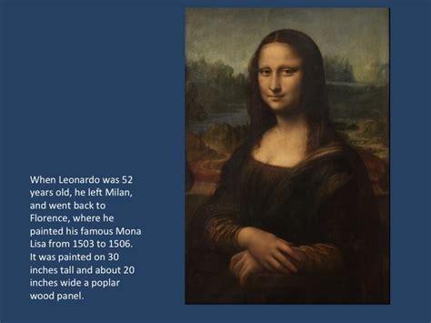 notable biographies leonardo da vinci monalisa painting story michelle art