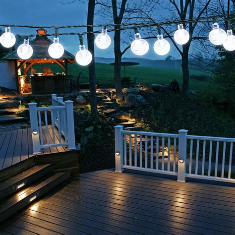 Solar Powered String Lights Patio Solar Patio String Lights
