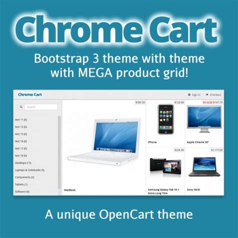 chrome theme resize opencart chrome cart responsive theme with mega grid
