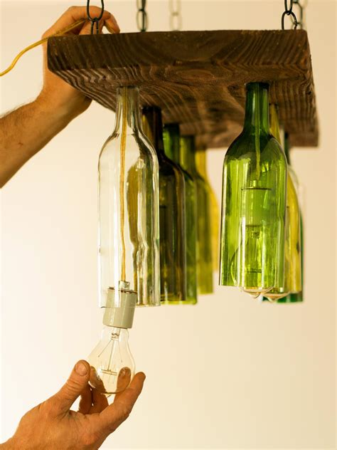 How To Make A Glass Bottle Chandelier How To Make A Chandelier From Wine Bottles How Tos Diy