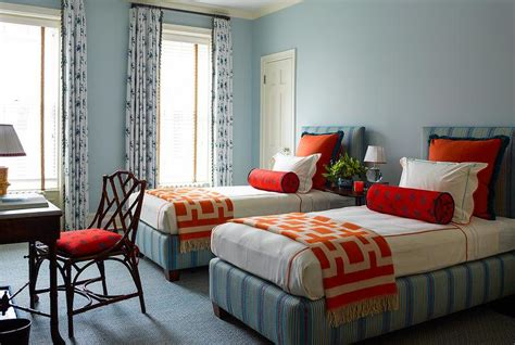 blue and orange bedroom orange and blue kids bedroom with butterfly bolster