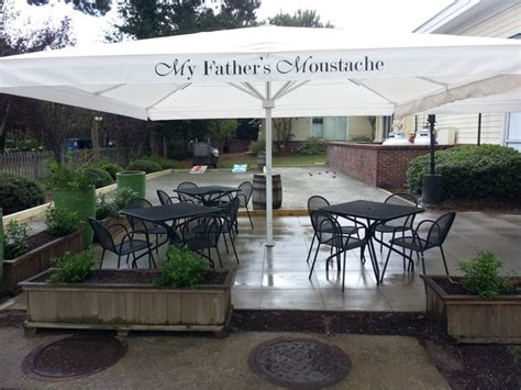 Outdoor Patio, Bar and ?The Stache dium?