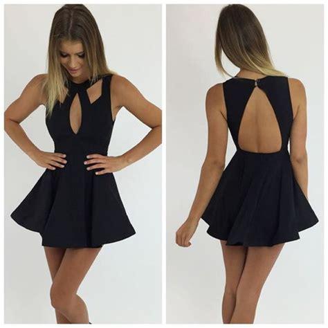 Mini Dress Yuka Black dress black dress black mini dress dress cocktail dress peppermayo wheretoget