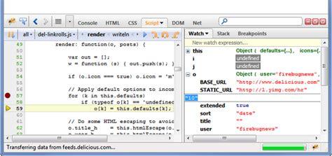 tutorial debug javascript with firebug 20 useful mozilla addons for web developers top design