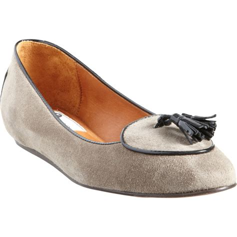 lanvin loafers lanvin belgian loafer in brown taupe lyst