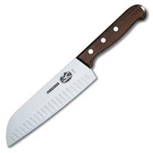 Victorinox forschner by victorinox rosewood 7 quot santoku granton knife