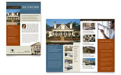 Residential Realtor Newsletter Template Word Publisher Microsoft Real Estate Templates
