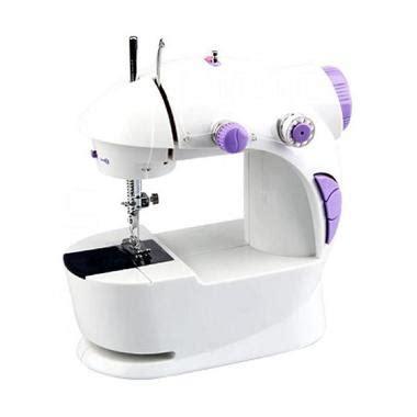 1 Set Mesin Jahit Mini Portable Fhsm 202 Dengan Meja jual mesin jahit manual portable dan listrik harga murah