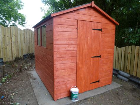 Painted Garden Sheds by Garden Decking Sheds Glasgow Sheds Playhuts Summerhouses
