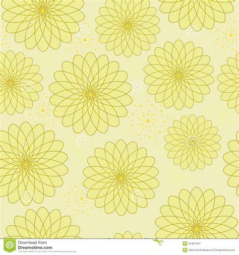 Decorated Paper Designs seamless floral pattern with geometric stylized flowers royalty free stock photography image