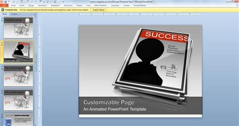 Animated Magazine Powerpoint Templates Magazine Powerpoint Template