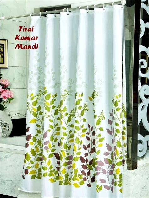 Tirai Kamar Mandi Anti Air Motif Cantik Murah tirai anti air untuk membuat kamar mandi selalu bersih dan cantik harga jual