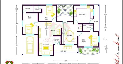 home design dimensions 3 bed room house plan with room dimensions architecture
