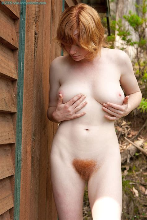Busty Redhead Janet Reveals Her Orange Bush At All Natural Cuties