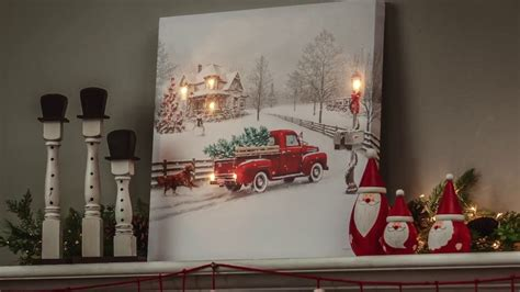 lighted canvas on pinterest light up canvas canvas vintage truck led light up canvas wall art 6ltc6190