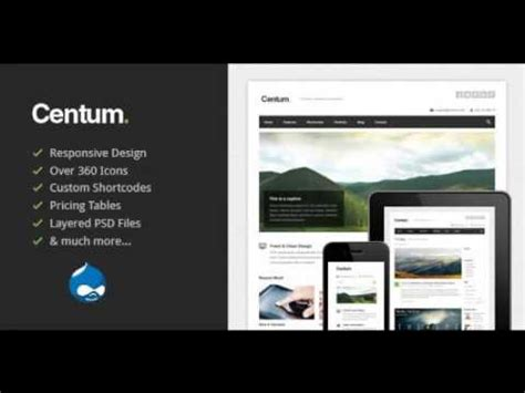 drupal theme youtube preview centum responsive drupal theme drupal youtube