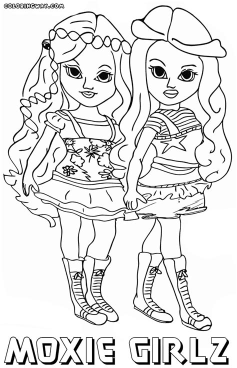moxie girlz coloring pages coloring pages to download
