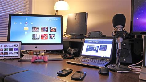best gaming setup desk setup room tour 2012