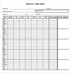 monthly timesheet template monthly timesheet template 9 free for pdf