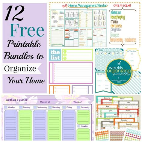 printable chore organizer 12 free printable bundles to organize your home see best