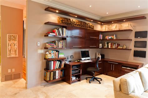 custom desk contemporary home office edmonton by