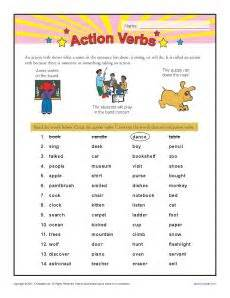 Core on pinterest reading action verbs second grade worksheets