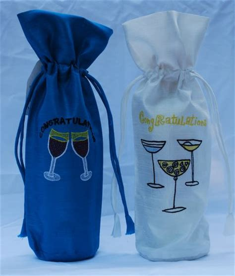 congratulations wine bottle cover from village to world