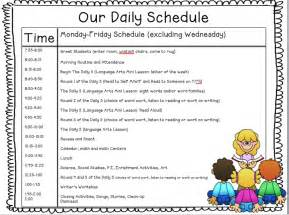 kinderworld the daily 5 my schedule and ideas