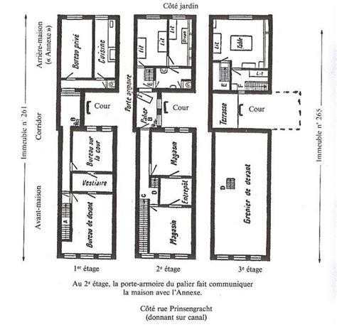 annex de secret annex floor plan diagram frank house diagram