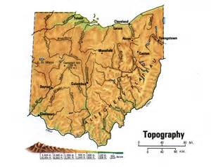 Topographical Map Of Ohio by Ohio Topographic Mapfree Maps Of Us