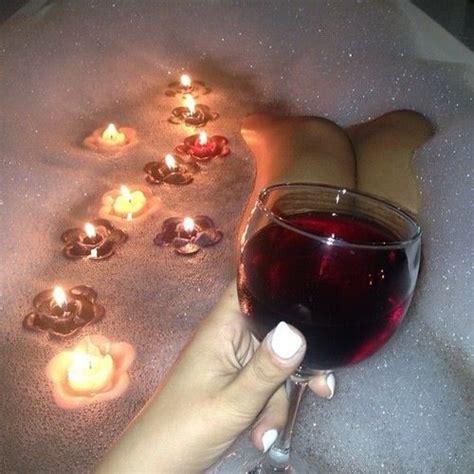 bathtub wine bubble baths candles wine bubbles bath s pinterest glasses flower and