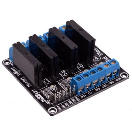 Solid State Relay Ssr Module 4 Channel 5v 4 channel omron ssr high level solid state relay module 250v 2a
