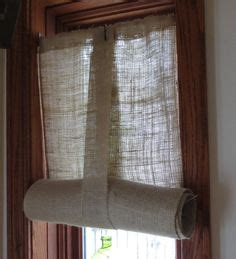 easy burlap curtains burlap curtains roll up or hang as a panel fringed