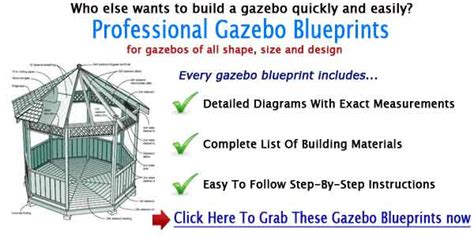 How To Build A 4 Sided Roof Diy Square Gazebo Plans Blueprints For Building A 4