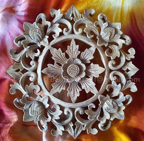 Bunga Jepun Bali Diameter 8cm jual ukiran kayu relief motif bun bunga diameter 30cm hiasan dinding bali dekoratif