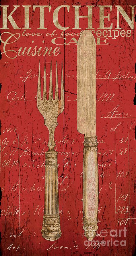 kitchen paintings vintage kitchen utensils in red painting by grace pullen