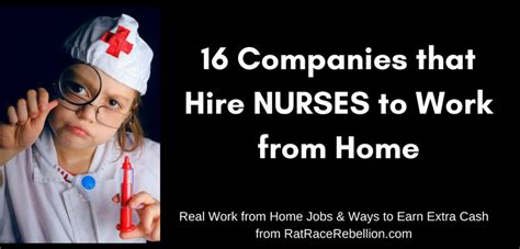 16 companies that hire nurses to work from home real