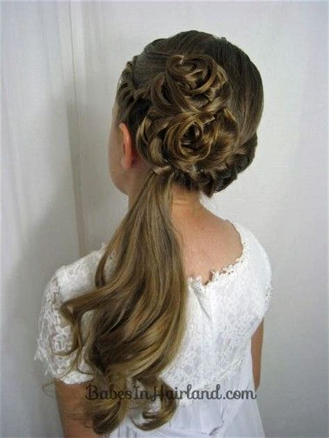 flower girl hairstyles half up 1000 images about flower girl hair on pinterest poof