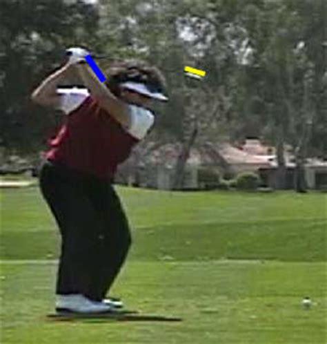 nancy lopez golf swing analyzing nancy lopez s swing action newton golf institute